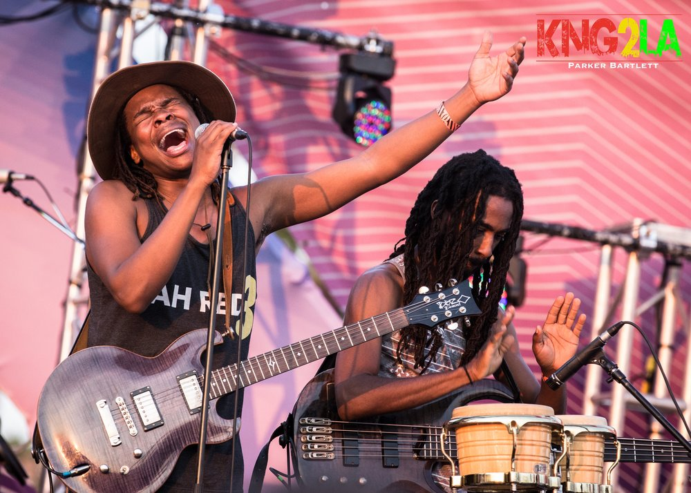 Kumar Bent and Pele Hamilton of Raging Fyah