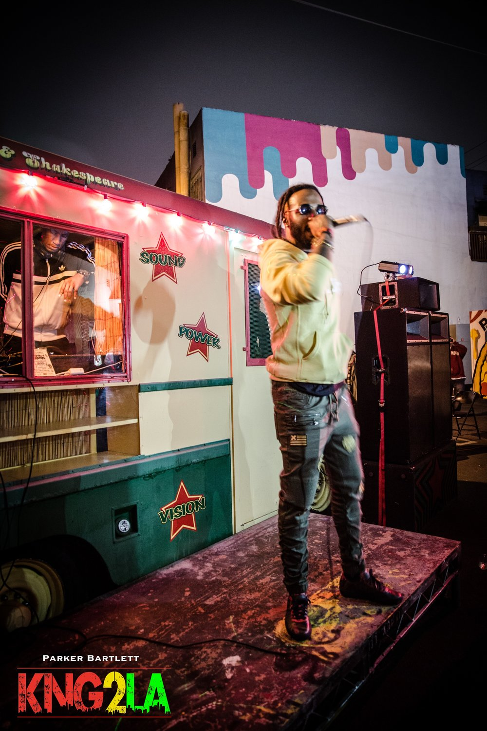 Bunx Dadda performing live at BoomYard LA's one year anniversary.