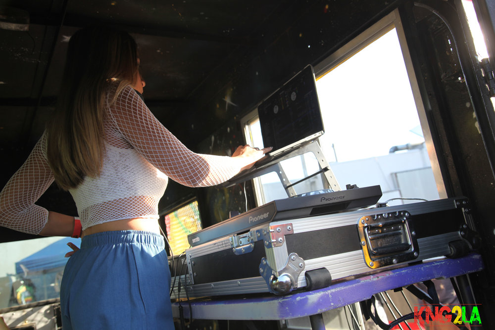 Jasmine Solano on the decks.
