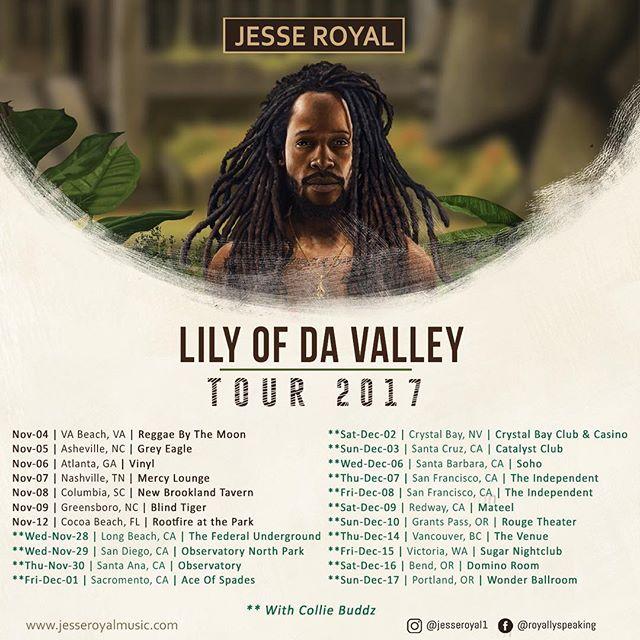 Catch Jesse Royal live alongside Collie Buddz in a city near you.