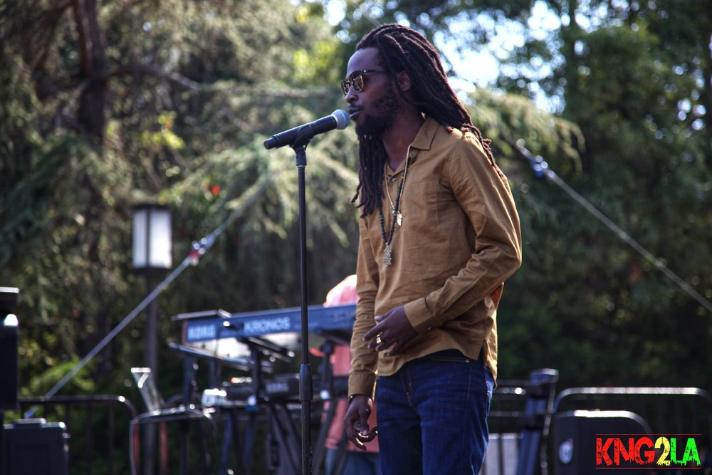 Royal performing live in Los Angeles at the UCLA Jazz and Reggae Festival, 2016.