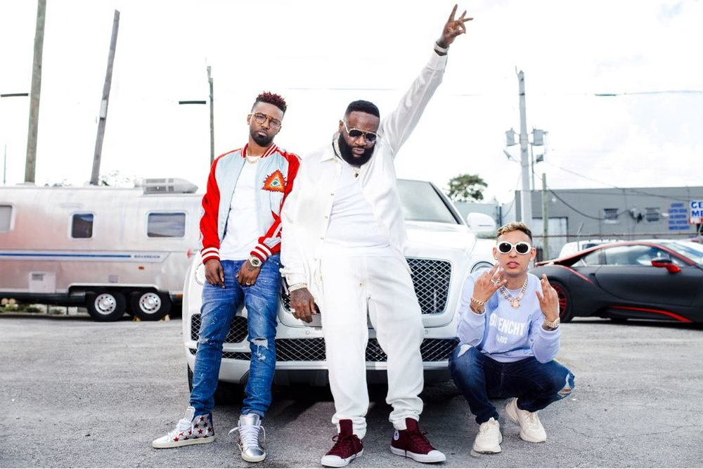 "Konshens, Rick Ross and Rvssian link up on new single, ""Big Belly."" Photography by: Keysus"