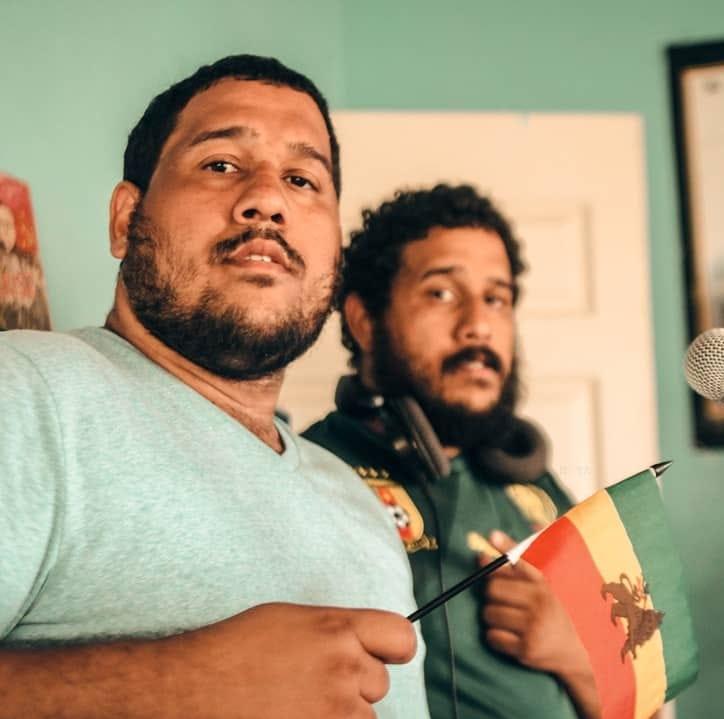 Lion Twin, Asfa and Yacob Charles. Photo: Raya Charles
