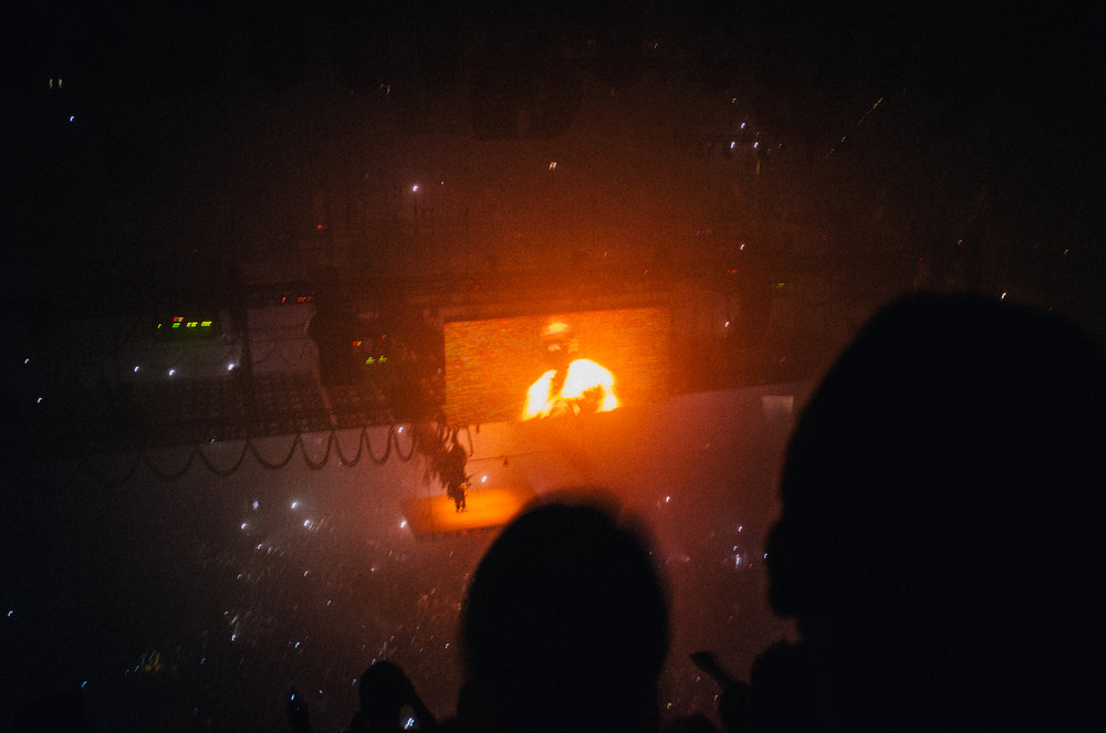 Kanye at the St. Paul stop of the Saint Pablo tour.