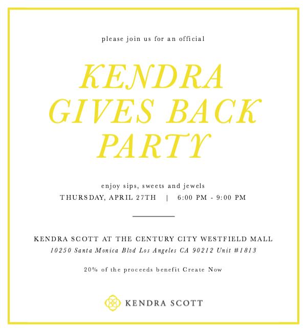 kendra scott gives back invitation