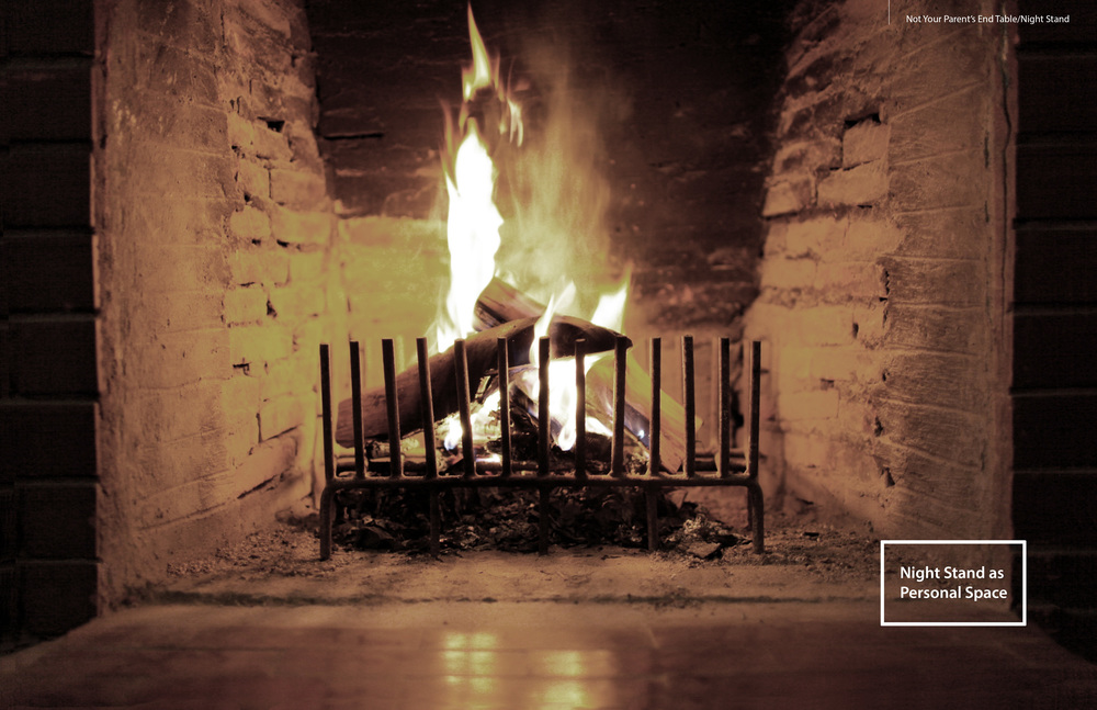Ember is inspired by fireplace and the private moments people spend around it.