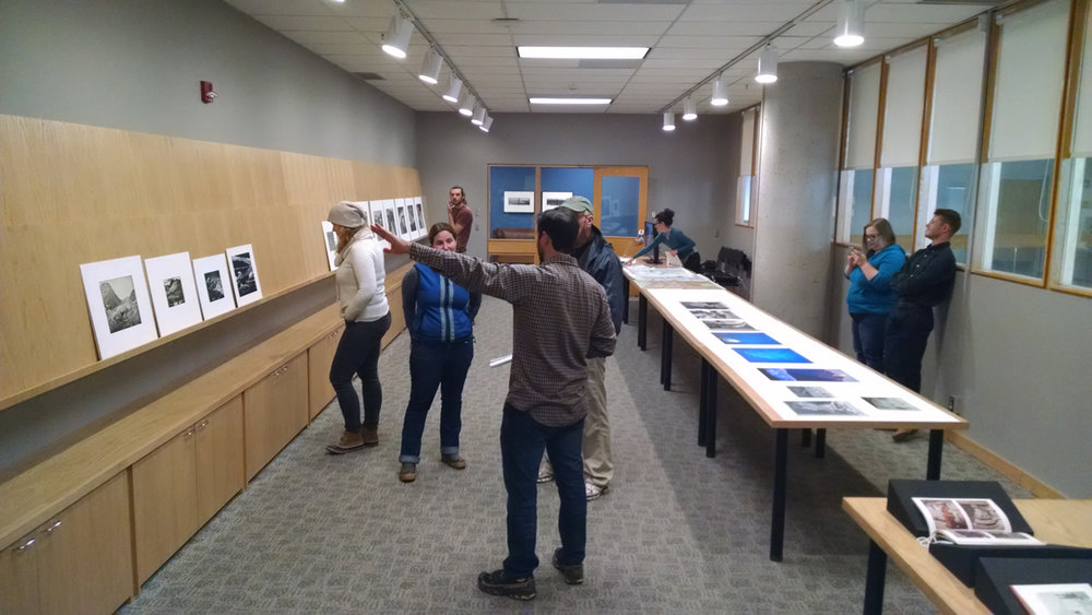 Glacier Print Viewing at the Center for Creative Photography held in conjunction with the exhibition of Nunatak. I selected several prints of glaciers from the CCP archive and invite UA climate Scientist Zack Guido to join me in a discussion about glaciers, climate, mountaineering and photography.