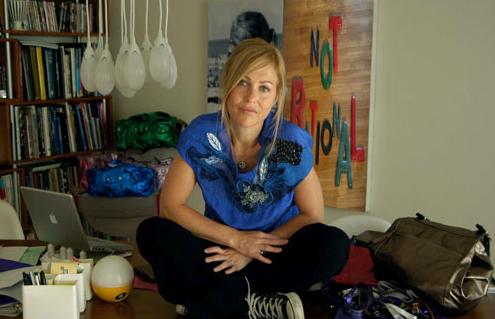 Fabiana Trosman in her studio
