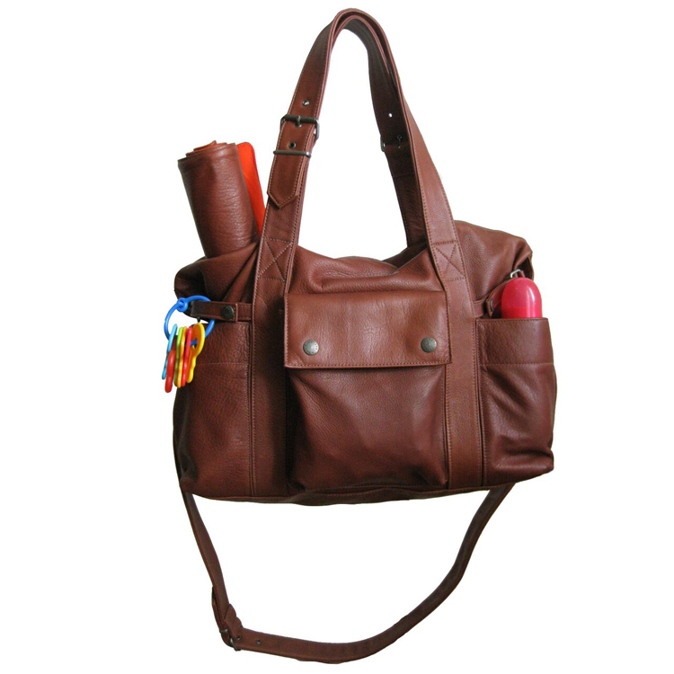 Hansel Diaper Bag - Brandy Leather — NOT RATIONAL 7ced61e00a9f8