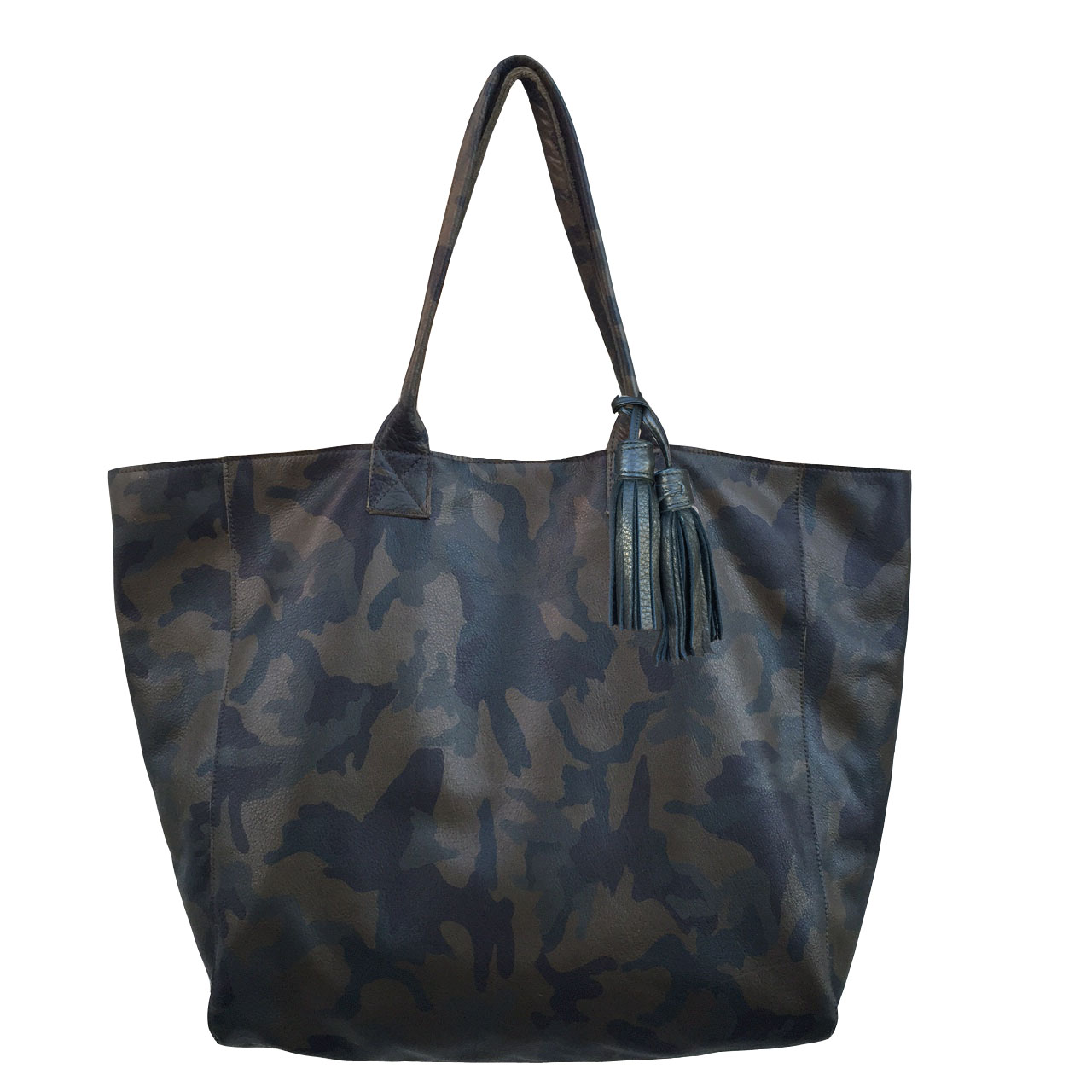655b2fcbc6 Noha Tote in Camouflage Leather — NOT RATIONAL