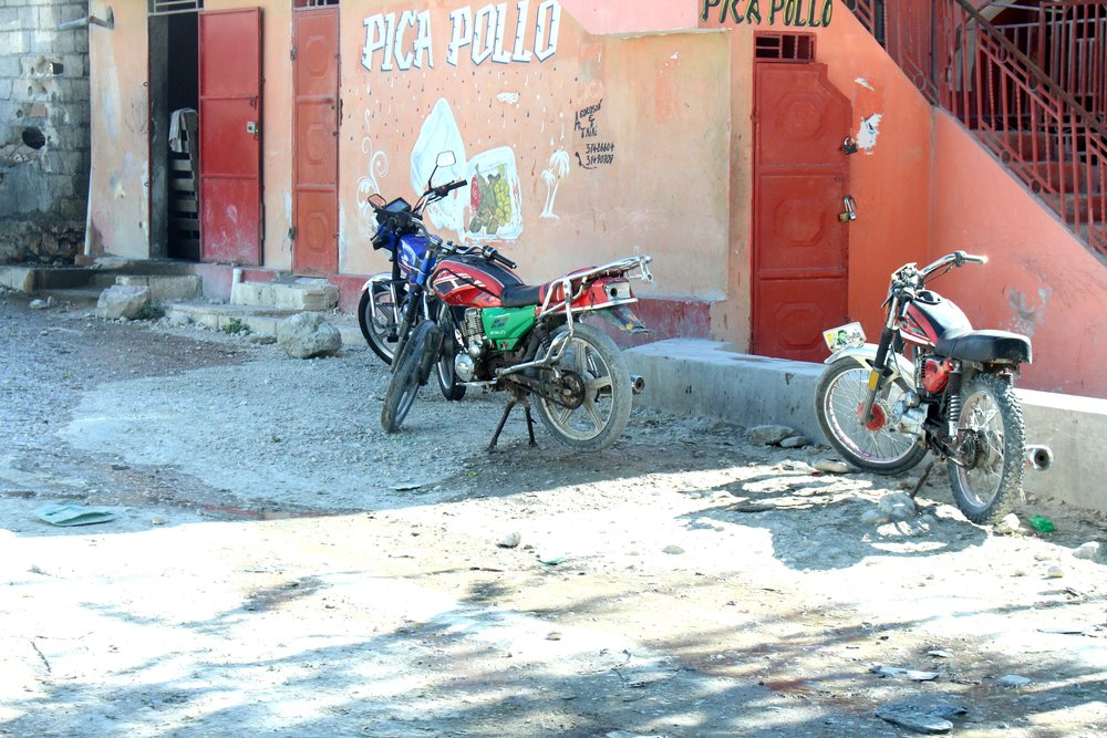 Everyone in Haiti has Motorbikes