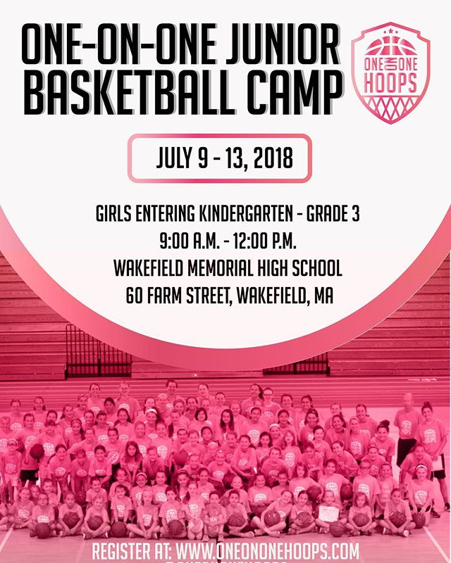Learn the basics of the game at our Junior Basketball Camp this summer! ⛹🏻♀️ Girls entering K-3 🕘 9:00am - 12:00pm 📍Wakefield High School  Registration link in Bio!  #girlsbasketball #girlsbasketball🏀 #girlsbasketballcamp #girlpower #summerbasketballcamp #summercamp #summertime #learnbasketball #girls #youthbasketball #girlsyouthbasketball