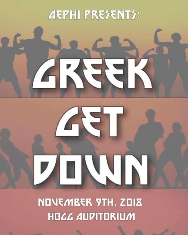 GREEK GET DOWN IS THIS FRIDAY!!! Come out and show your support to our awesome Panhellenic chapters that are competing in this hip hop dance competition hosted by Alpha Epsilon Phi!!! Tickets are on sale on our website at https://txgreekgetdown.weebly.com/tickets.html! They are $13 but will increase the day of the show. Ticket wristband pick up is at the AEPhi house (2500 Rio grande) Thursday from 3-8, Friday 11-1, or at the show. Doors open at 6:30 and the show starts at 7!! All proceeds will benefit Alpha Epsilon Phi's philanthropy, the Elizabeth Glaser Pediatric AIDS foundation!!! And the top three sororities will receive donations to their chapter's philanthropies as well!! We hope to see you there!!! 🎉🌟🤩💕 #texaspanhellenic #greekgetdown #womenleaders #strongwomen #philanthropicwomen