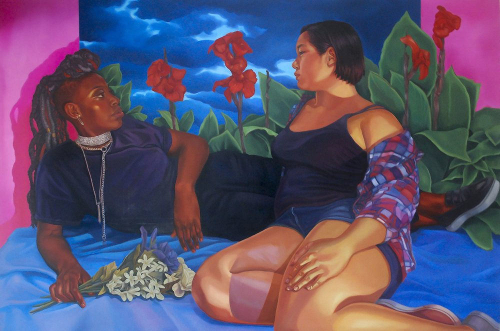 """I'd make you miserable in time  72"""" x 48""""  Oil on canvas"""