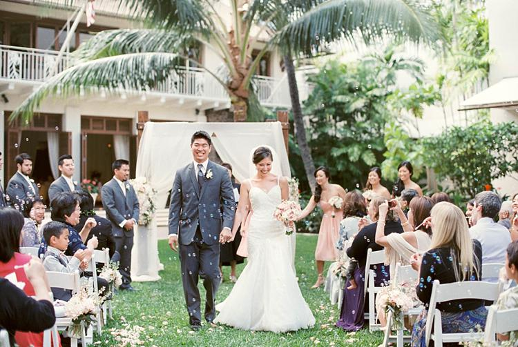Halekulani Waikiki Lawn Courtyard and Ballroom Wedding