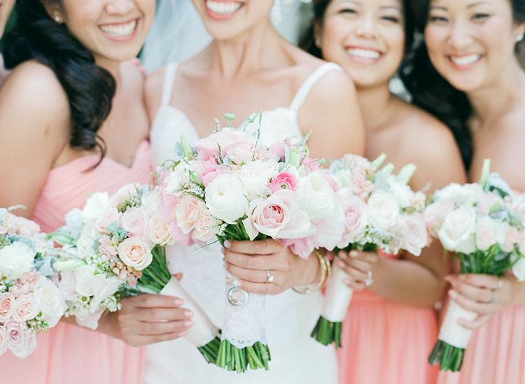 Pink and Blush Wedding Florals Flowerl Girls Hawaii