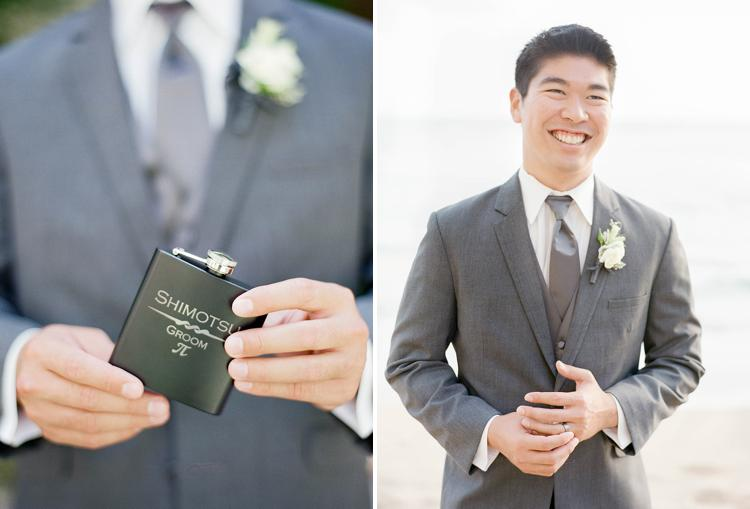 Customized flask groom's gift