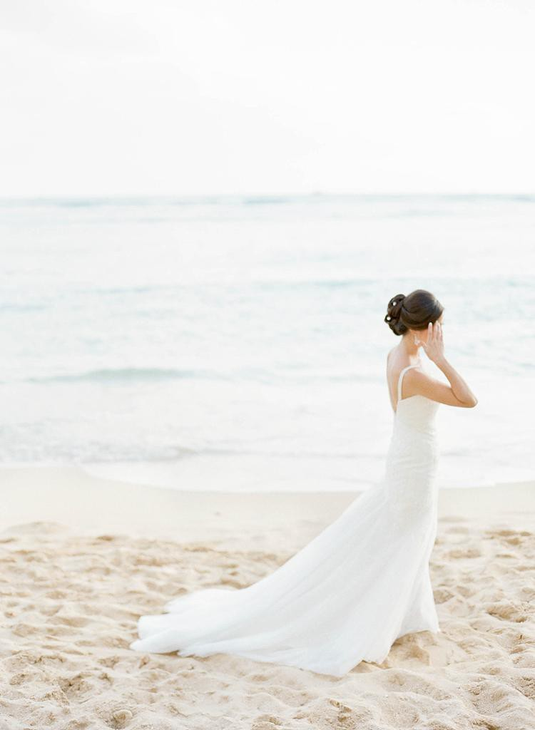 Halekulani Waikiki Beach Wedding Photo