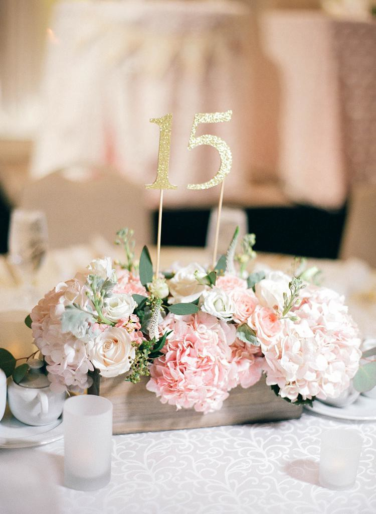 Blush and Gold Wedding Florals