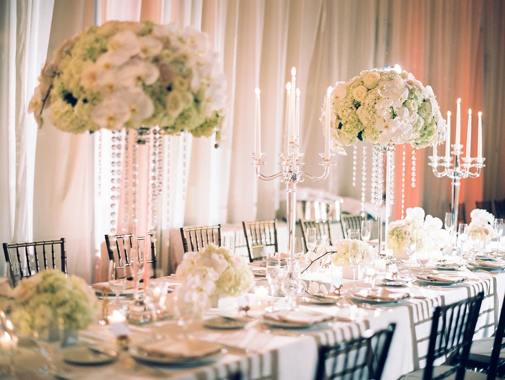 Luxe pink and gold and white wedding