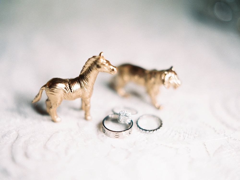 Gold animal place card holders