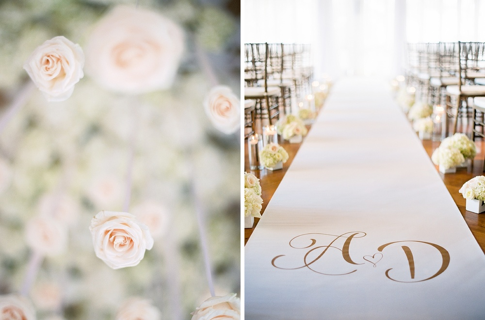 monogram wedding aisle runner