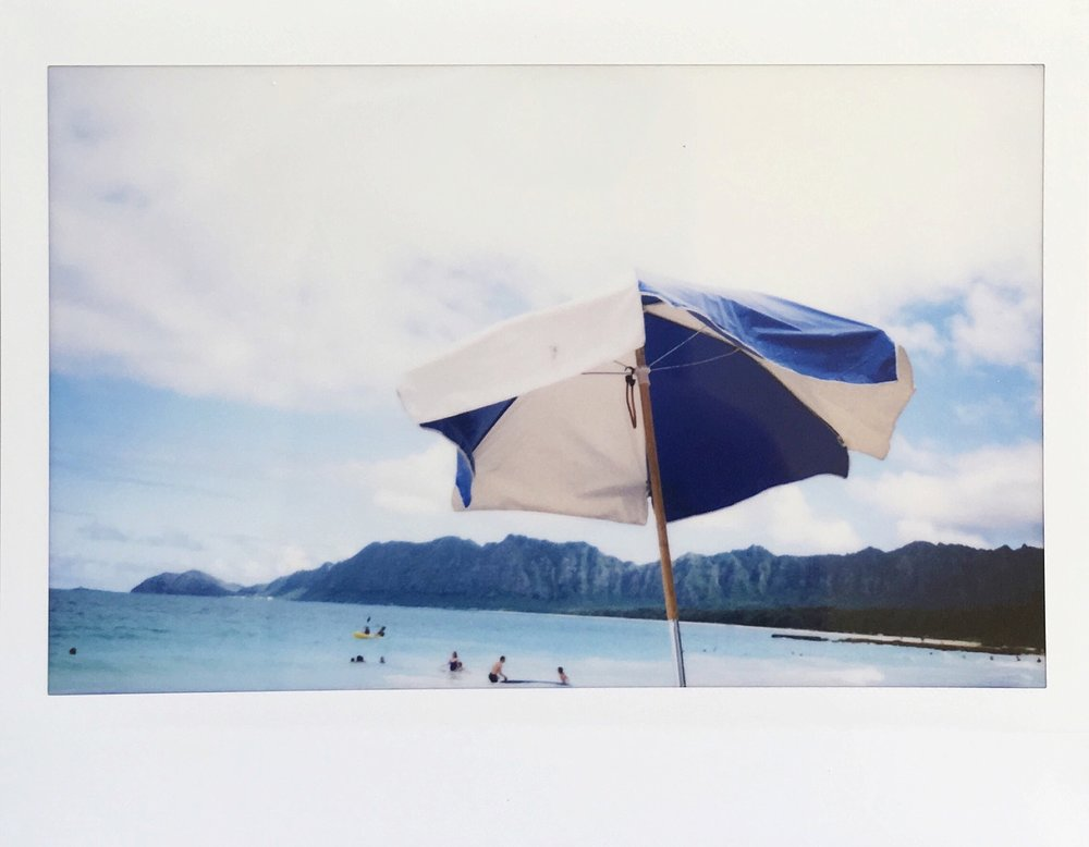 Hawaii Beach Umbrella Polaroid
