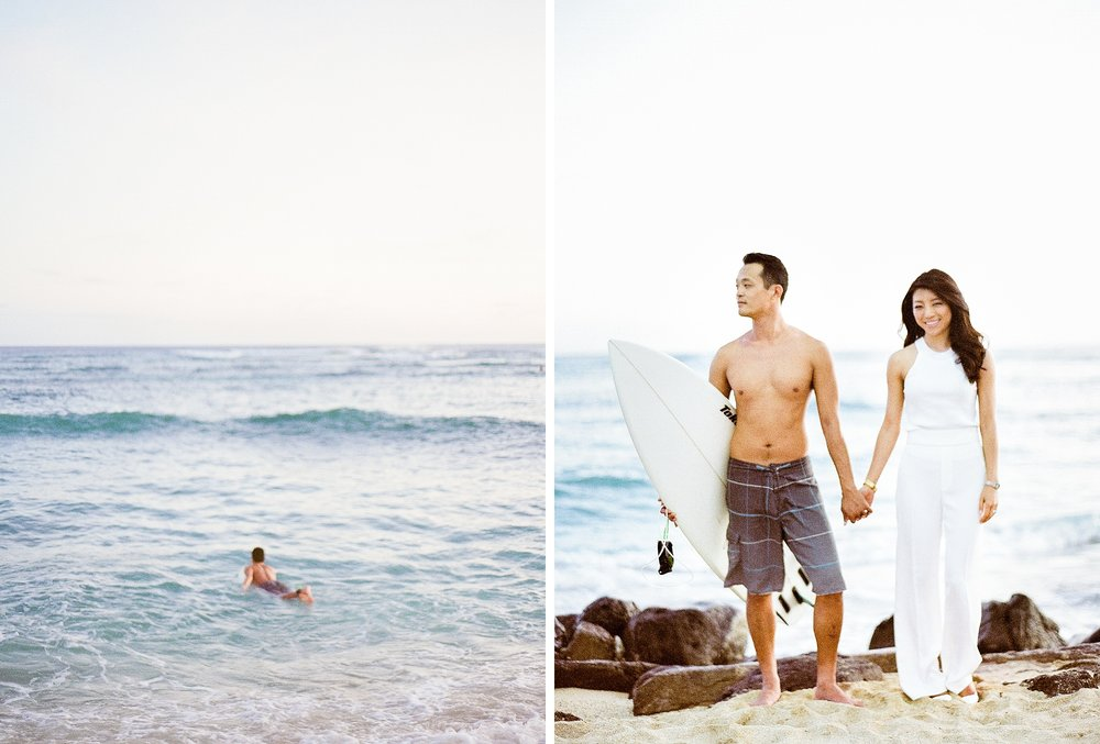 Waikiki Surfer Engagement Photo