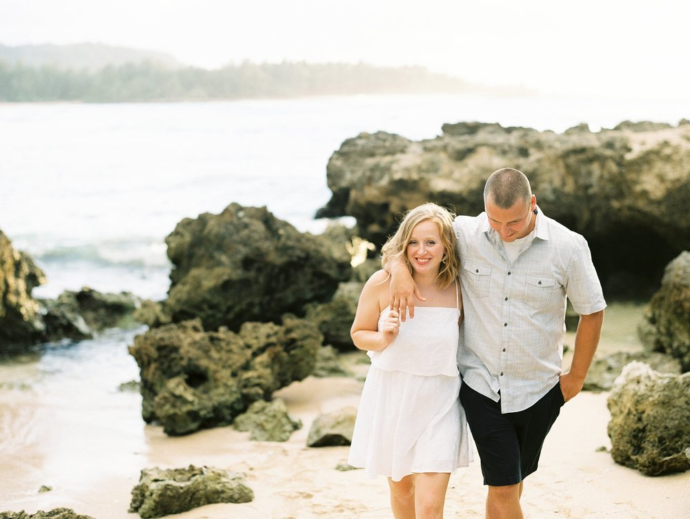 Turtle Bay Oahu Hawaii Couple's Photo