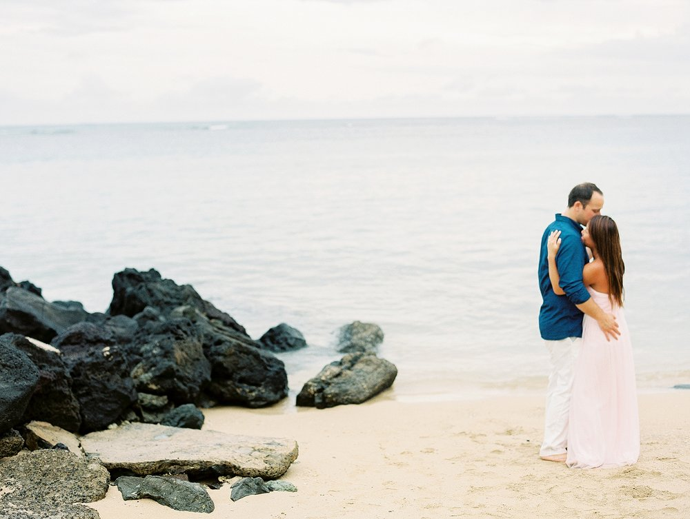 Kahala Waialea Beach Hawaii Engagement Photo_0009.jpg