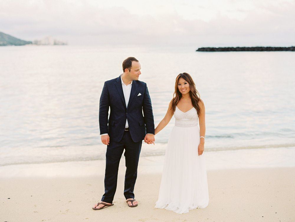 Hilton Hawaiian Village Waikiki Beach Elopement by Ashley Goodwin