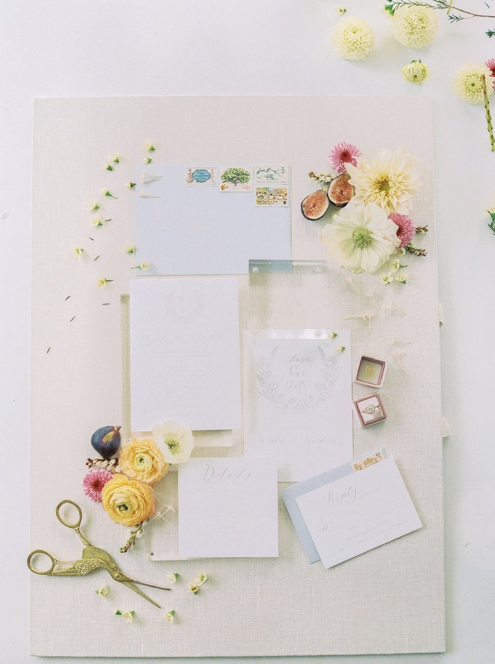 Spring Inspired Wedding Calligraphy Stationary by Anna Claire Calligraphy.jpg