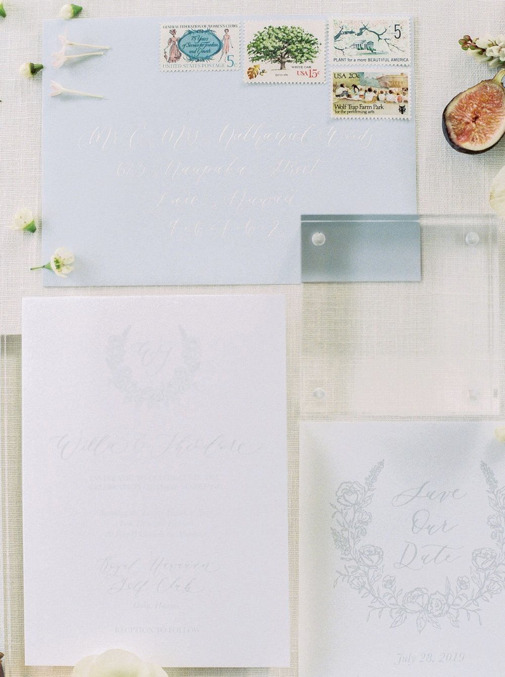 powder blue spring garden inspired calligraphy stationary suite by anna claire calligraphy.jpg