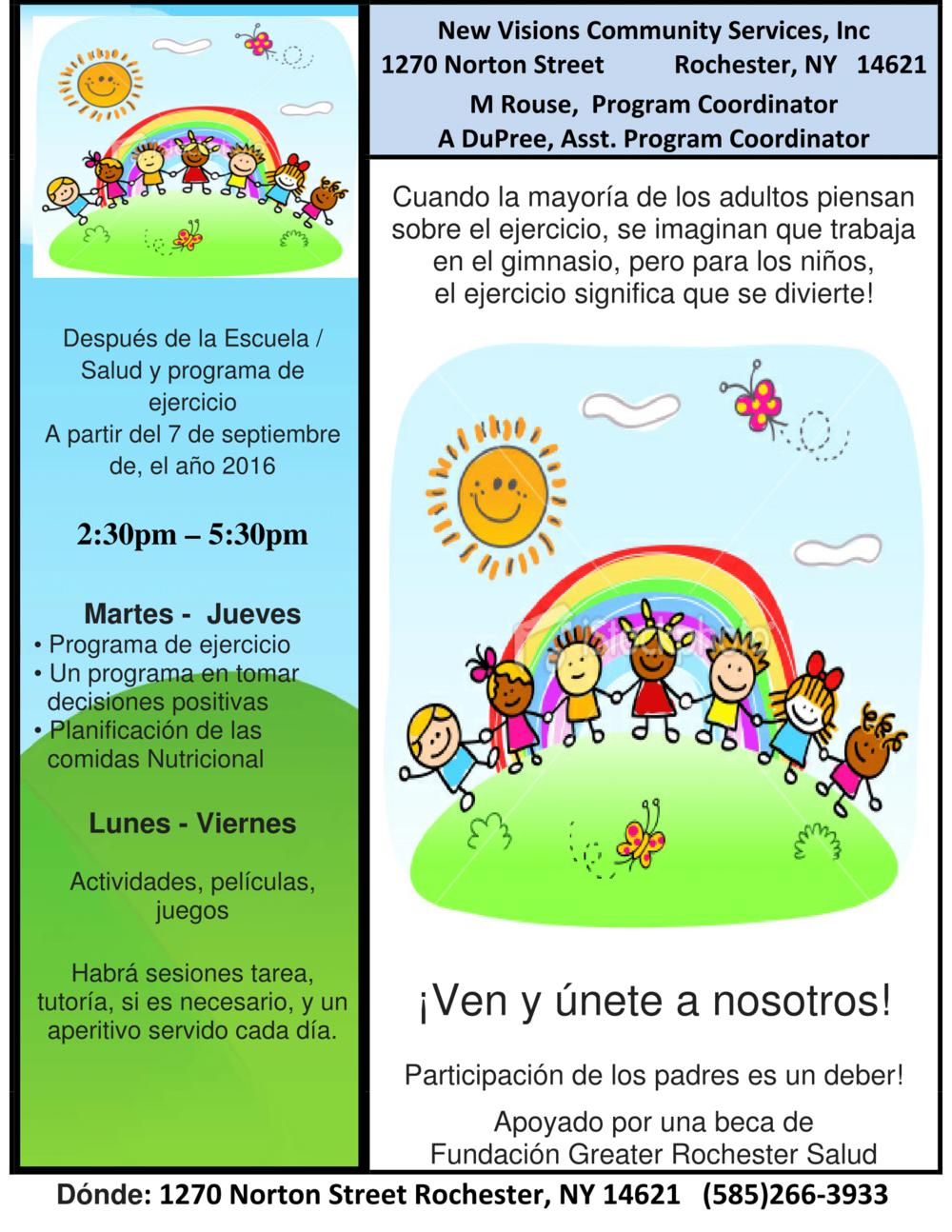 After School Program FLyer (Spanish)