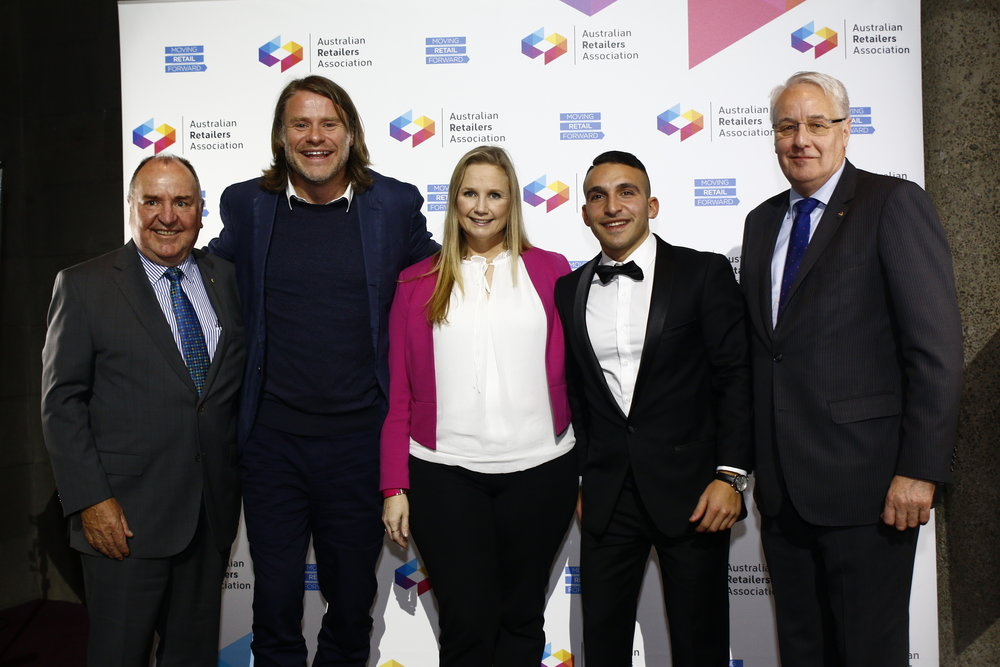 The Realise Group's National Account Director,Kate Gorman (centre),shown with Russell Zimmerman,Radek Sali &Roger Gillespie.
