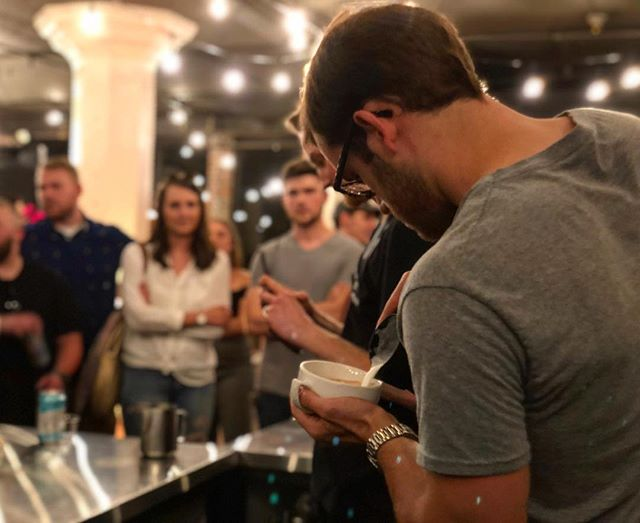 Failed hard on the swan tonight but made it to round 3 #LatteArtThrowdown 📷 @jessiejeanbeans