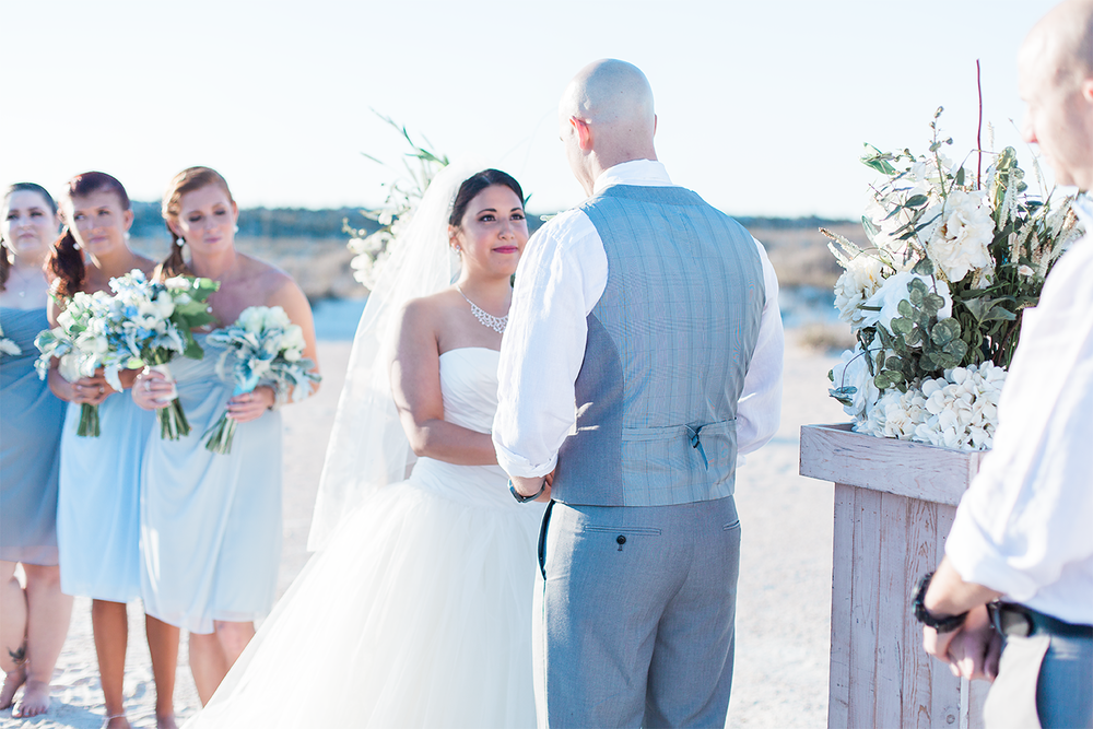 Beach wedding in St.Augustine