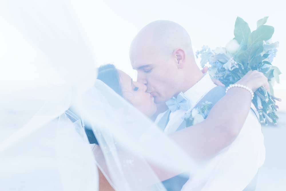 Wedding picture ideas | bride and groom kissing through the veil