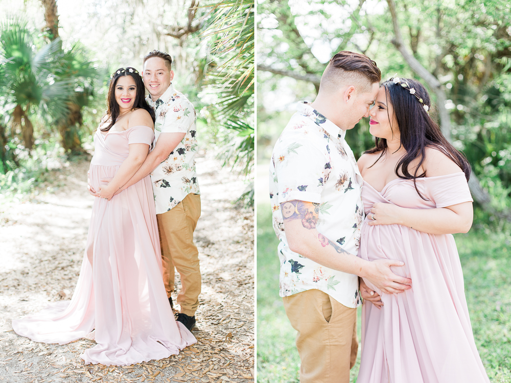 Maternity pictures in the greenery | maternity picture and photo ideas