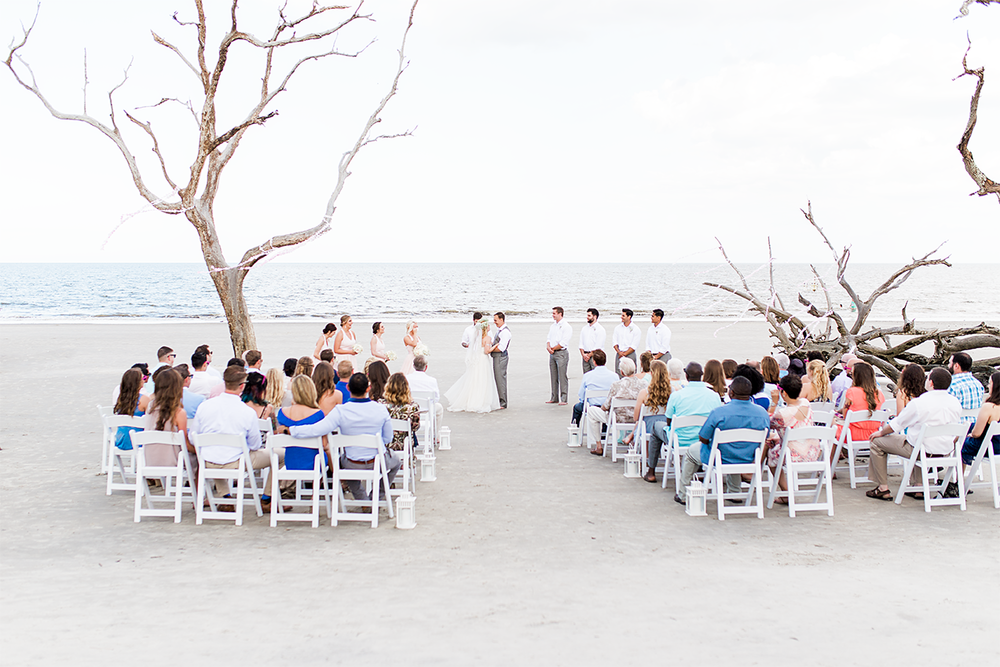 Ceremony | Wedding in Driftwood Beach, Jekyll Island, GA | Maris Kirs Photography | Jacksonville, Ponte Vedra and St.Augustine wedding photographer