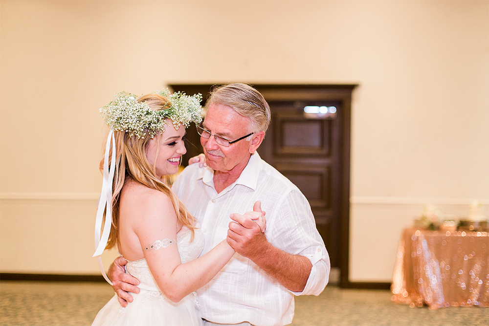 Father-daughter dance during the wedding