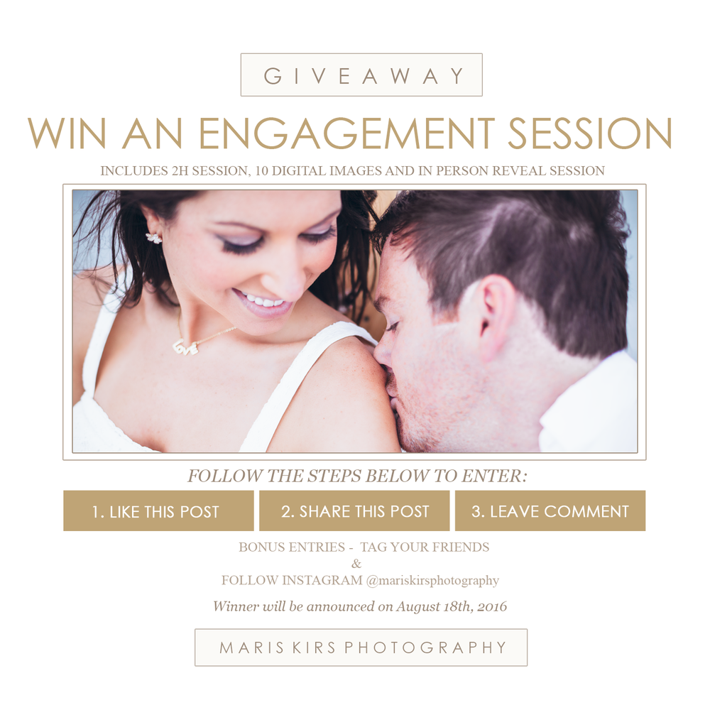 Engagement session givaway - win a photoshoot