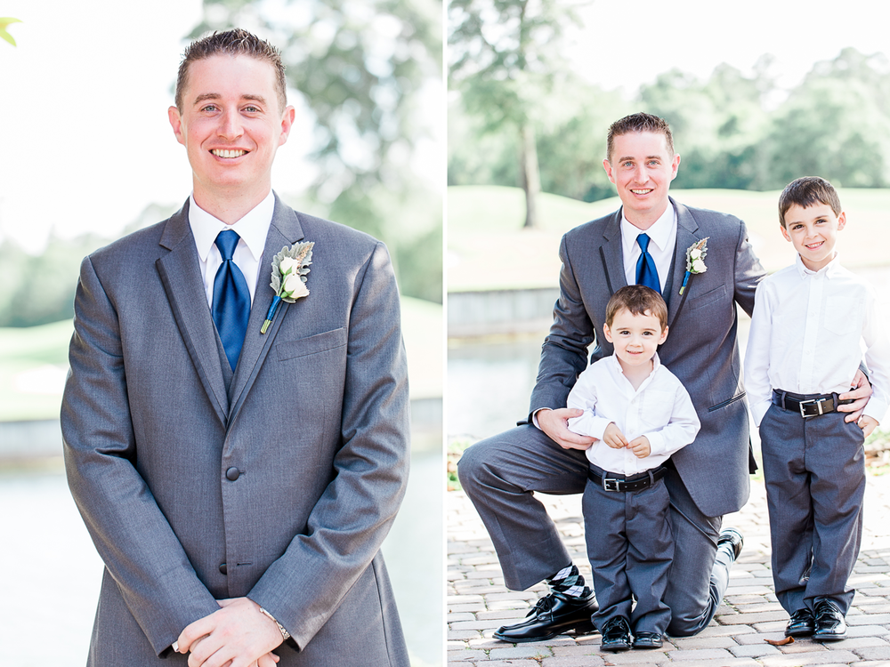 Groom and ring bearers