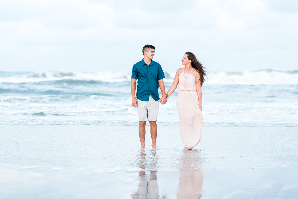 beach engagement session. jacksonville fl engagement and wedding photographer