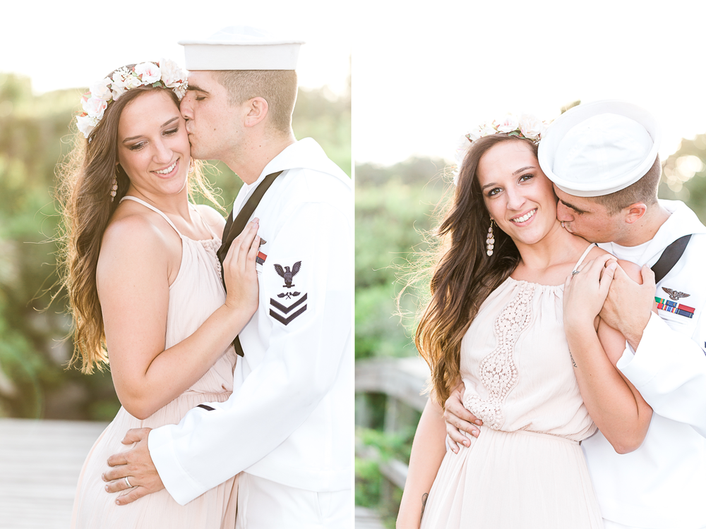 navy engagement session in hanna park