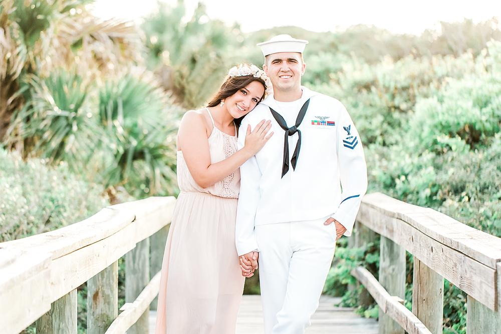Engagement session in Hanna park, Jacksonville FL