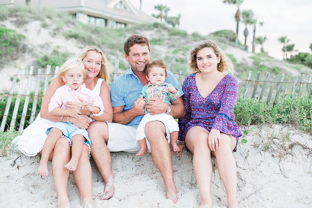 Family beach photography session in Ponte Vedra Beach.