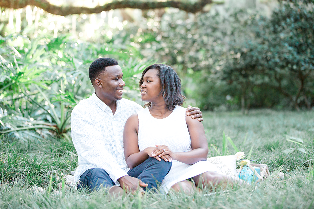 engagement session in washington oaks gardens state park