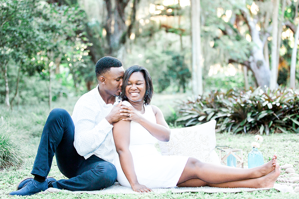 picnic style engagement photos