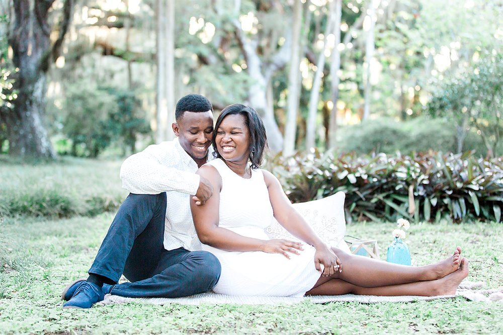 engagement photoshoot in washington oaks gardens, st.augustine, fl